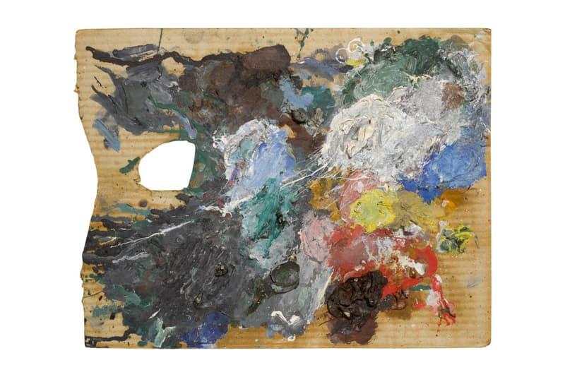 """ピカソが実際に使用した油塗料付きの木製パレットと板紙3点がオークションに出品される? Pablo Picasso Paint Palettes at Sotheby's Auction $70,000 USD Paintings Cubism Sotheby's London Auction """"The World of Picasso"""""""