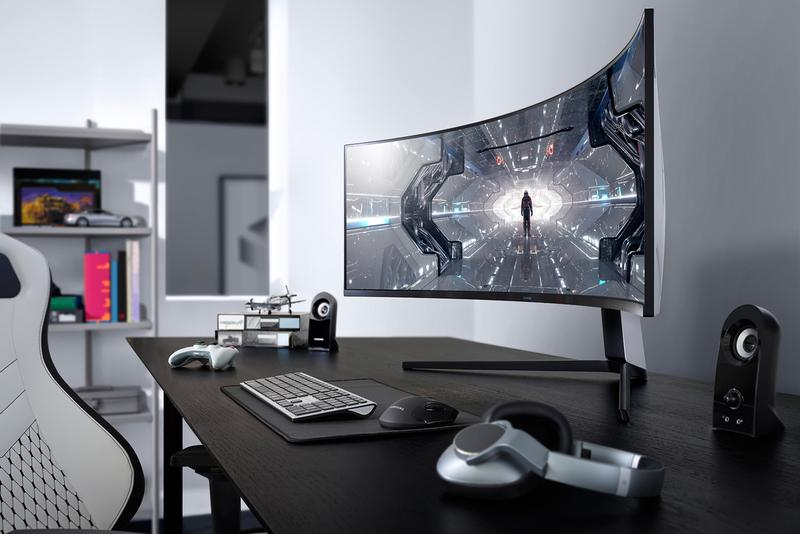 "Samsung の究極のゲーミングモニター Odyssey G9 が米国内で予約開始 Samsung Odyssey G9 Curved Gaming Monitor Pre-Order 49"" Ultra Fortnite FPS Call of Duty Gamers Streamers"