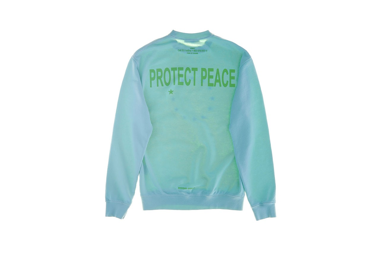 """ユースに向けたオピニオンウエアを展開する Souvenir Official が新たなキャンペーン """"EUNIFY - PROTECT PEACE""""を発表  Berlin based brand Souvenir Official launches the EUNIFY - PROTECT PEACE project"""