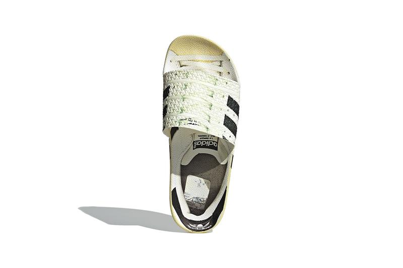 "アディダスからスーパースターを実写プリントしたアディレッタが登場 adidas Originals adilette Superstar ""Ftwr White/Core Black/Off White"" Fw6093 Slides Sandals Slipper Three Stripes 50th Anniversary Release Information Footwear Drops July 1"