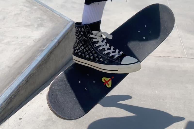 Erik Arteaga が Chrome Hearts × Converse のコラボ  Chuck Taylor を着用してスケート Erik Arteaga Skates Chrome Hearts Converse Chuck Taylor All Star Burberry.erry Video