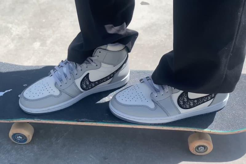 ディオール x エアジョーダン 24万円の DIOR x Air Jordan 1 でスケートする強者が現る Erik Arteaga Skates Dior Air Jordan 1 High OG Kim Jones Video Burberry.erry