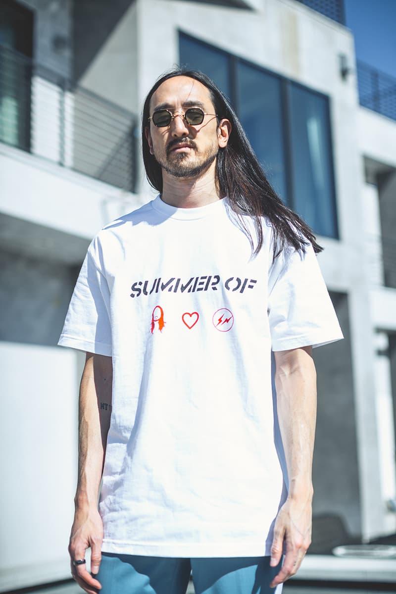 スティーヴ・アオキがフラグメントとのコラボTシャツをリリース 藤原ヒロシ steve aoki hiroshi fujiwara fragment dim mak summer of t shirt tee launch