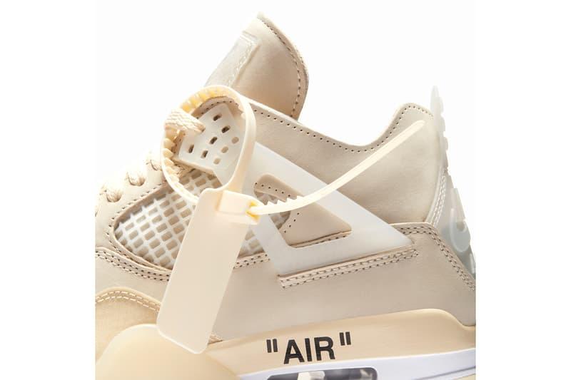 """オフホワイト x エアジョーダン 4 """"Sail""""の発売情報が解禁 ヴァージル・アブロー Off White Air Jordan 4 Sail Official Images Release Date Jumpman Virgil Abloh Collab Collaboration Nike HYPEBEAST Kicks Preview Upcoming Sneakers Best Releases 2020 Limited"""