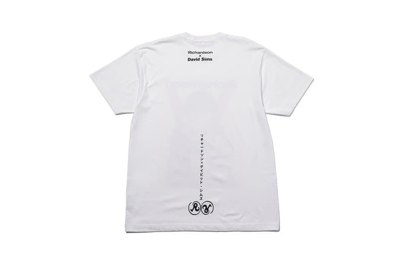 リチャードソン Richardson がデイビッド・シムズとのコラボTシャツを限定発売