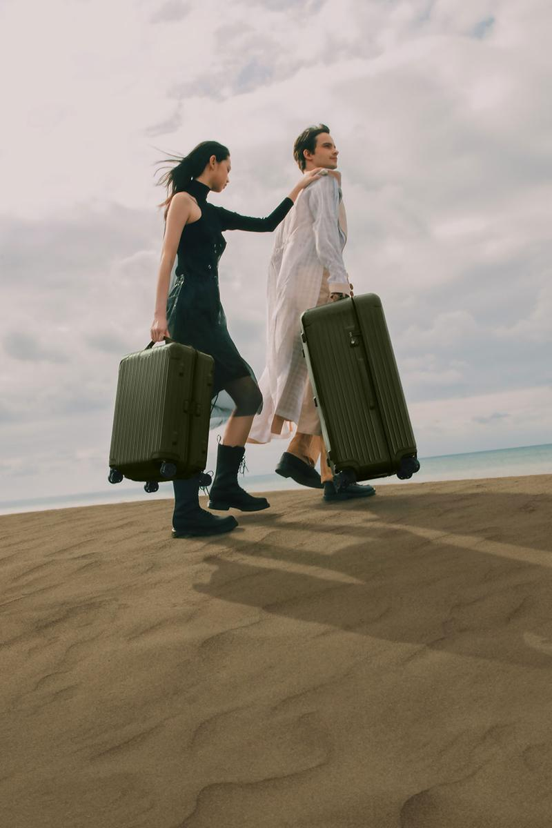 リモワの定番エッセンシャルに砂漠からインスパイアされた新色が追加 RIMOWA Essential Desert Rose Cactus suitcase cabin check in trunk polycarbonate Mojave Desert inspiration