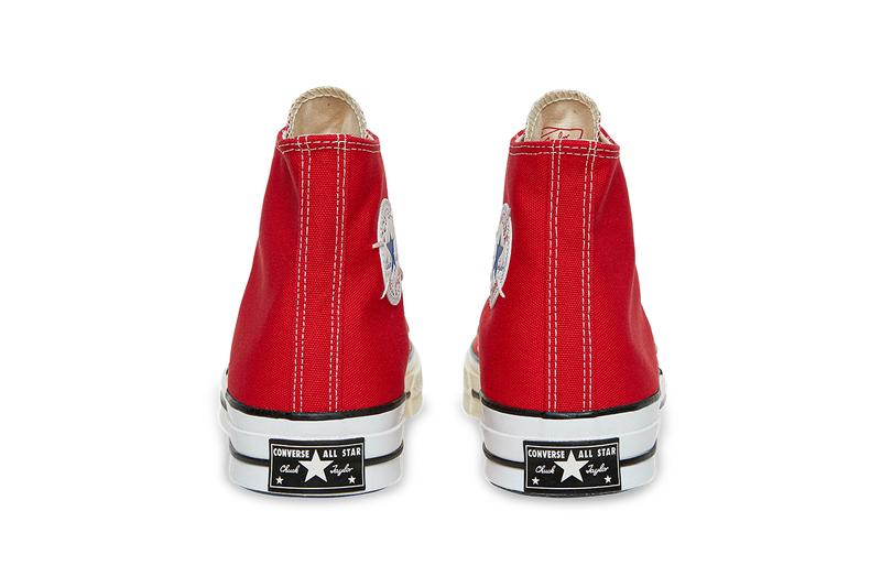 "Slam Jam x Converse の最新コラボ Chuck Taylor では新色が登場 Slam Jam x Converse Reconstructed Chuck 70 ""Red"" ""Black"" ""Egret"" Release Information Closer Look Drop Date July 9 Frankenstein Cut-Sew Stitch Footwear Sneaker"