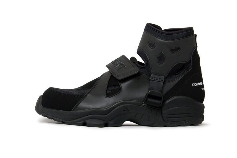 コムデギャルソン x ナイキ Air Carnivoreにクローズアップ COMME des GARÇONS Homme Plus x Nike Air Carnivore の公式ビジュアルが公開COMME des GARÇONS x Nike Air Carnivore Collaboration homme plus japan release date info buy april 2021 colorway 3m reflective high top mid runway
