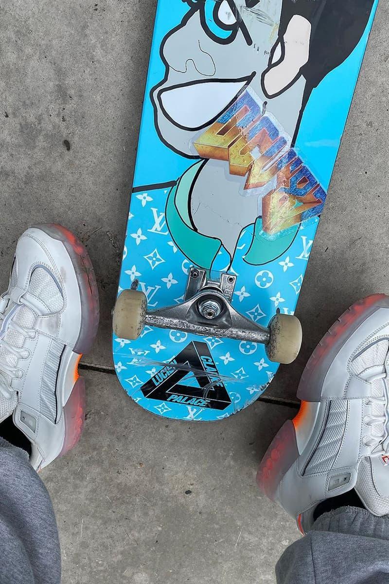 ルイ・ヴィトンxパレス スケートボードのコラボレーションが実現か louis vuitton palace skateboards skateboard decks first look