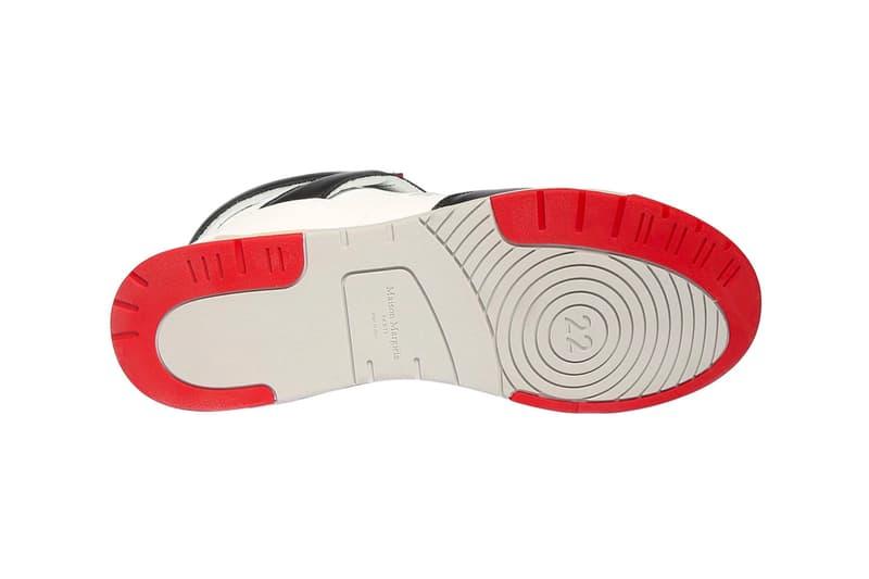 マルジェラからエアジョーダン4ぽいスニーカーが発売 Maison Margiela 35mm Deadstock Leather Mid-High Sneakers Release Info Buy Price LUISAVIAROMA Jordan Air Brand 4 fire red white black grey