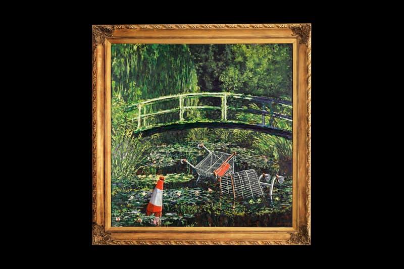 """バンクシーがモネの""""睡蓮""""に着想し描いた""""Show Me the Monet""""がオークションに出品"""