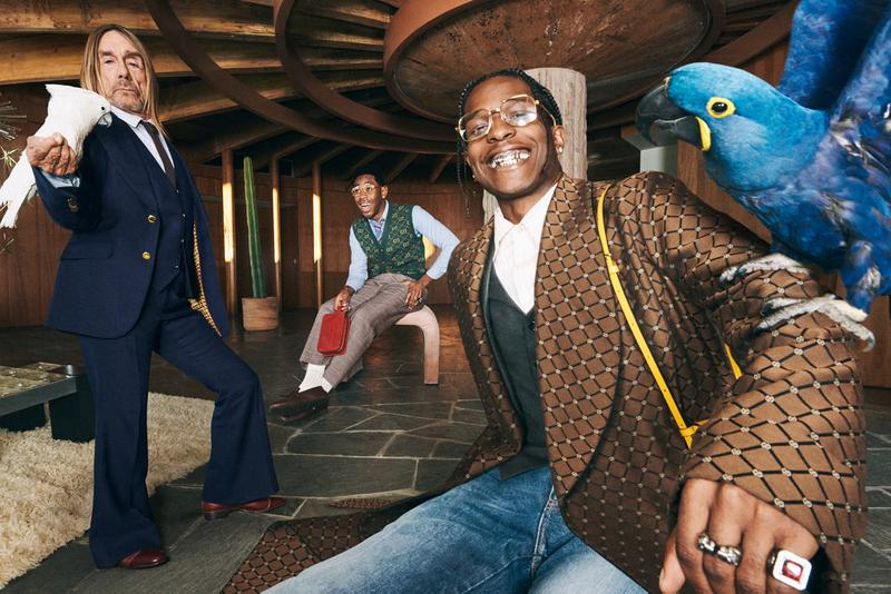 """A$AP Rocky、Tyler, the Creator,、Iggy Pop が Gucci の新広告キャンペーンで共演 Gucci """"Life of a Rock Star"""" Campaign Features A$AP Rocky Tyler, The Creator Iggy Pop"""
