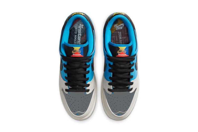 Nike SB x Instant Skateboards の新作コラボフットウェアが登場 instant skateboards nike sb dunk low silver tan blue black dog wolf cz5128 400 official release date info photos price store list buying guide