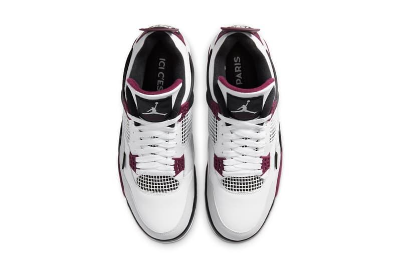 "Jordan Brand x PSG によるファン垂涎の最新コラボ Air Jordan 4 が登場 Nike Jordan Brand Air Jordan 4 Paris Saint-Germain FC PSG Jumpman ""Bordeaux"" Purple Wine France Football Club AJ4 Michael Jordan Black White Neutral Gray"