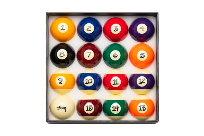 ステューシーがショーンフォントでナンバリングされたビリヤードのボールセットをリリース Stüssy's Billiard Ball Set Celebrates Its Signature Handstyle Font