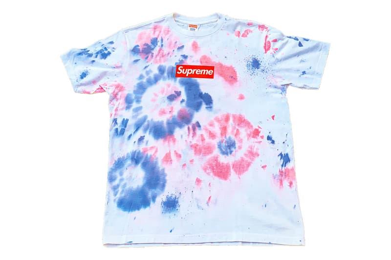 シュプリームの激レアボックスロゴTシャツが550万超えで落札 Supreme Tie-Dye Box Logo $52,000 USD Auction sale interview max miller supgrails hyp lil keed friends family tee shirt bogo bid sample