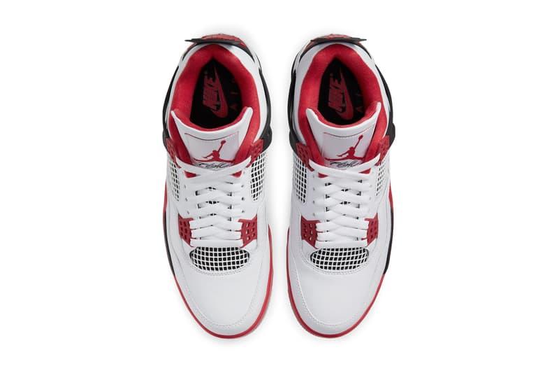 """エアジョーダン 4 """"Fire Red"""" がゲリラ発売 air jordan brand 4 fire red white black tech grey DC7770 160 official release date info photos price store list buying guide"""