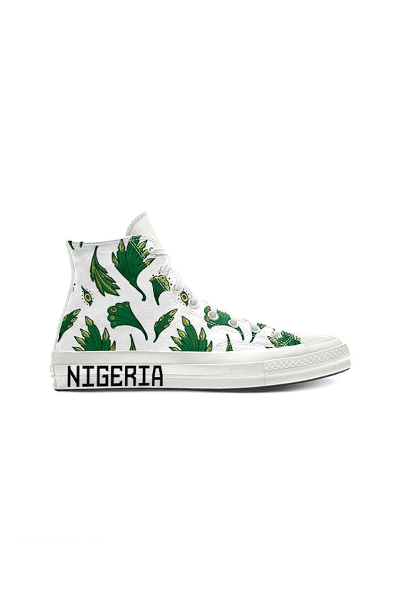 Converse がナイジェリア代表のサッカーチームをテーマにしたカスタマイズ可能な Chuck 70 を発表 converse by you all star high top chuck 70 Nigeria naija 2020 release information