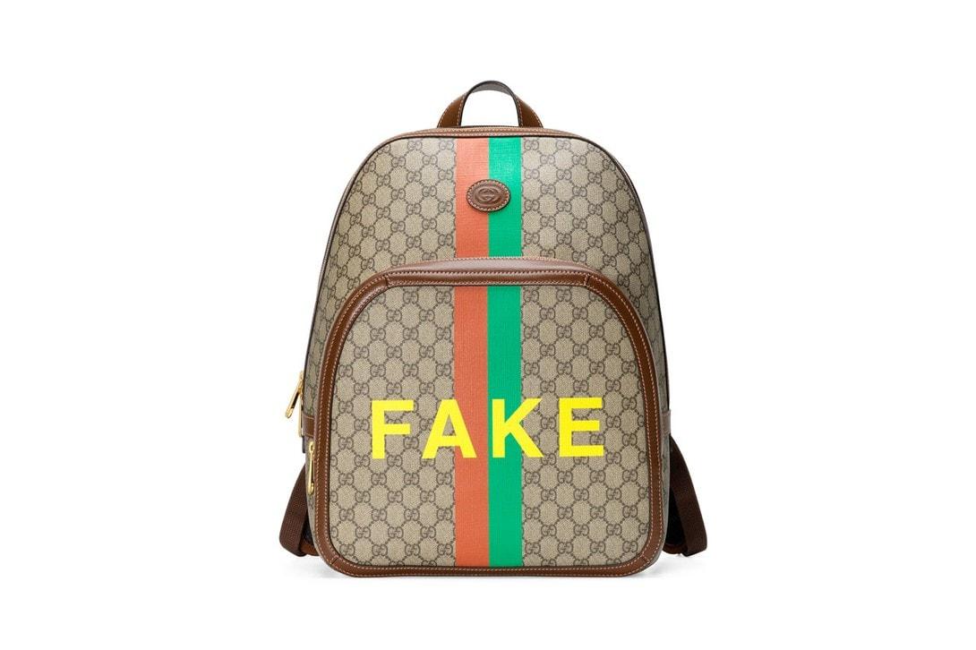 """Gucci グッチ が80年代フェイクロゴをあえてサンプリングした""""Fake Not""""コレクションを発表"""