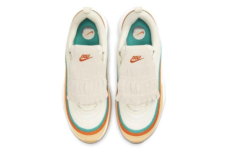 ナイキからエアマックス97のゴルフシューズがリリース フリンジ コーデュロイ nike air max 97 g nrg nike air zoom victory tour nrg fringed golf sneakers reaction CJ0563-200 CK1211-100 sports footwear