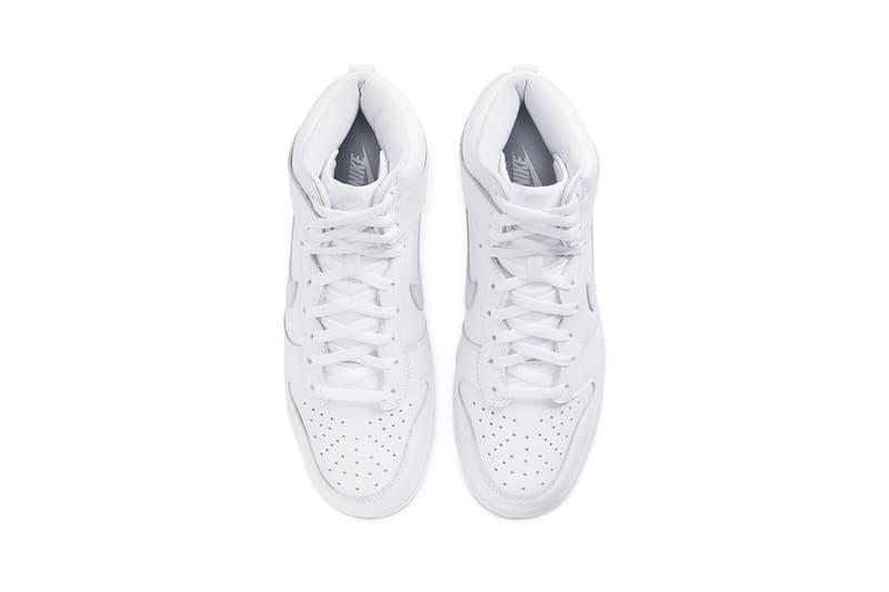 """ナイキからオールホワイトのダンクが登場 Nike Dunk High """"Pure Platinum"""" cz8149-101 Sneaker Release Information Drop Date Cop Online Shop Footwear Swoosh SB Skateboarding Basketball Triple White Clean"""