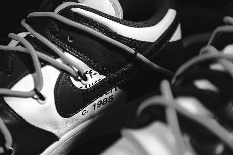 """オフホワイトxナイキのコラボ ダンク ローに新色の噂が急浮上 Off-White™ x Nike Dunk Low """"Black"""" Colorways Teaser"""