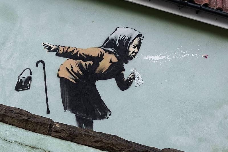 """バンクシー Banksy が新作アート """"はくしょん!"""" を公開 banksy aachoo bristol street art public artwork graffiti"""