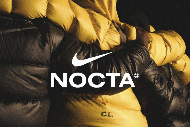 drake nike sportswear nocta collaborative line apparel footwear shoes puffer jacket ovo official release date info photos price store list buying guide