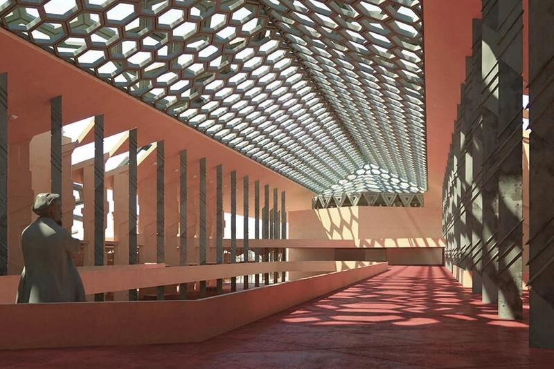 巨匠 フランク・ロイド・ライトによるアリゾナ州の国会議事堂のコンセプトデザインが3D設計技術で再現 frank lloyd wright unbuilt oasis arizona capitol architecture design renderings visualizations