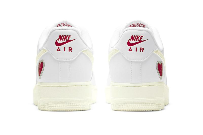 """ナイキよりバレンタインデーの名を冠したエア フォース 1 ローが登場 Nike's Air Force 1 """"Valentine's Day"""" Release info"""
