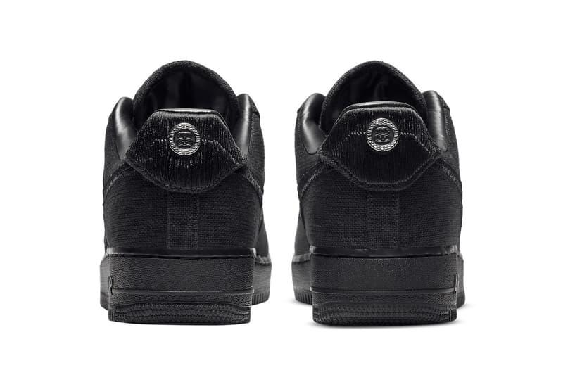 ステューシー x ナイキ エアフォース1 ブラックの公式画像が浮上 stussy nike sportswear air force 1 low black CZ9084 001 official release date info photos price store list buying guide