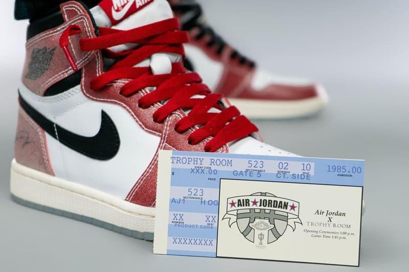 マイケル・ジョーダンの息子 マーカス・ジョーダンが手がけるトロフィー ルームよりエア ジョーダン 1 シカゴにオマージュを捧げた1足が登場 Trophy Room x Jordan Brand Air Jordan 1 collab chicago release info nba all star game