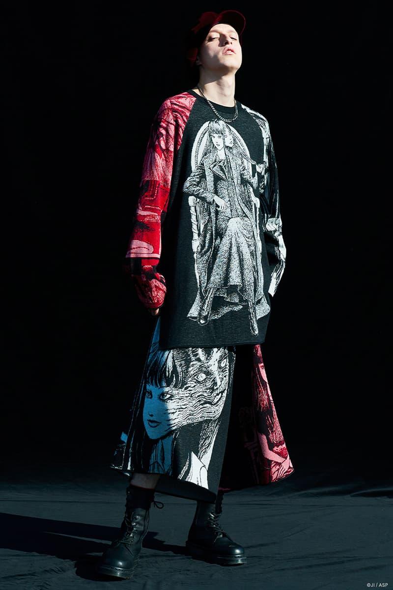 サイトから日本を代表する怪奇漫画家・伊藤潤二との2020年秋冬シーズンの最新コラボコレクションが登場 Yohji Yamamoto S'YTE Junji Ito Fall Winter 2020 collab Collection Release