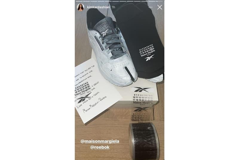 キム・カーダシアンがメゾン マルジェラxリーボックの新作フットウェアとおぼしき1足を披露 kim kardashian margiela reebok classic leather first look official release date info photos price store list buying guide