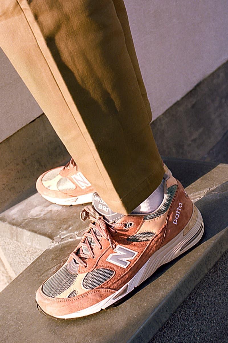 パタxニューバランスが誕生20周年を迎える991を採用したコラボフットウェアをリリース Patta new balance 991 sneaker release information peach cork light petrol release information