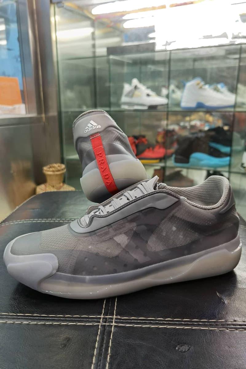 プラダとアディダスのコラボA+Pルナロッソ21の新色のビジュアルが浮上 prada adidas collaboration a p luna rossa 21 gray info