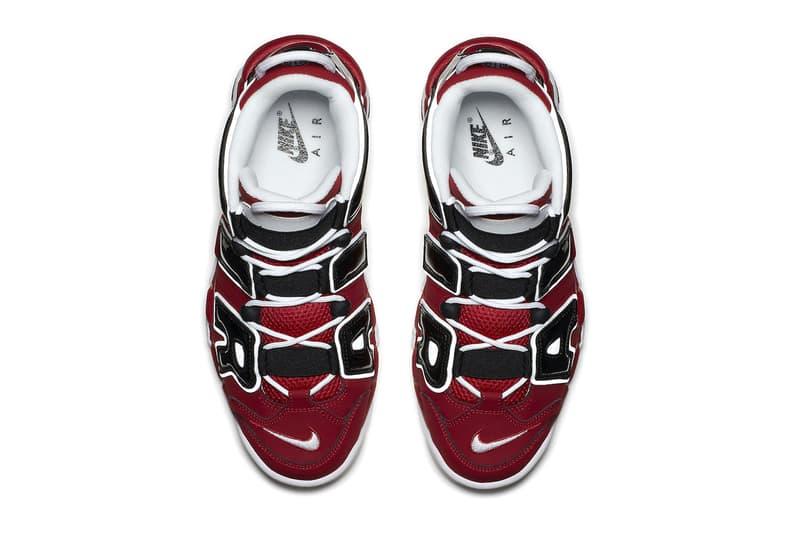 ナイキからブルズカラーを纏ったエアモアアップテンポが約4年ぶりにカムバック nike air more uptempo bulls varsity red black 921948 600 menswear streetwear shoes sneakers runners trainers kicks basketball shoes chicago bulls nba info