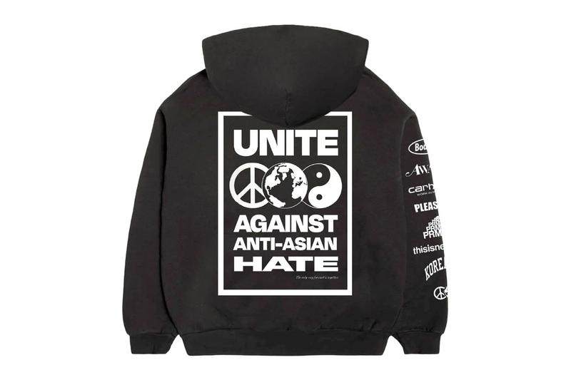 "ボデガがさまざまなブランドと協力して""UNITE AGAINST ANTI-ASIAN HATE""を掲げたAAPI コミュニティー支援の限定フーディをリリース Stand United Against Anti-Asian Hate AAPI Hoodie Awake NY Bodega Carhartt WIP PLEASURES PRMTVO thisisneverthat KOREATOWN"
