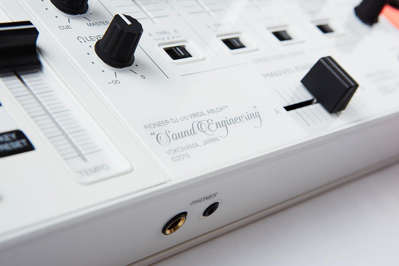 パイオニアDJとオフホワイトによるコラボ DJコントローラー DDJ-1000-OW が発売 Pioneer DJ and Virgil Abloh Off-White™️ collab DDJ-1000-OW and capsule collection SOUND ENGINEERING release info
