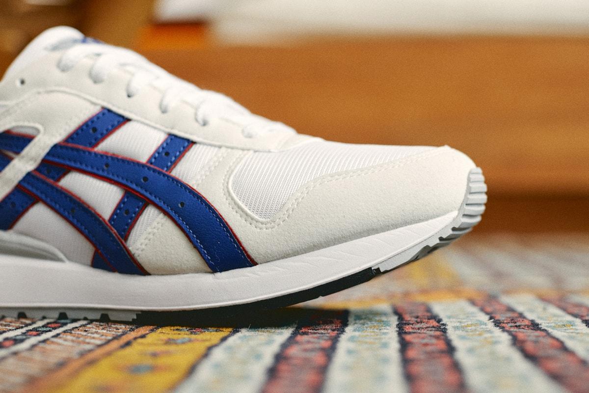 アシックスからゲルテクノロジーを世界に発信する最新モデルが登場 asics running shoe footwear 80s vintage retro stripes