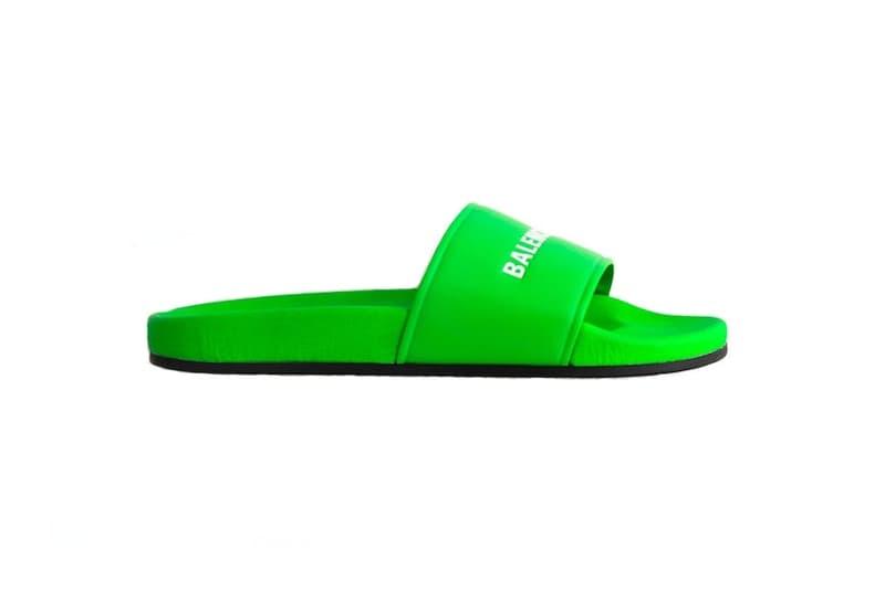 발렌시아가 이세탄 팝업 슬라이드 샌들 슈퍼마켓 쇼퍼 슈퍼마켓 클립 balenciagas slide sandal isetan pop up 2018