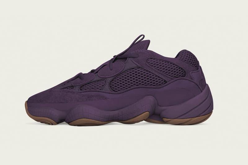 이지 사막쥐 500 '자외선' 색상 2018 yeezy 500 ultraviolet colorway adidas