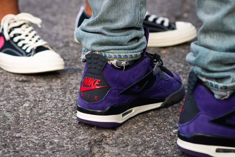 트래비스 스콧 x 에어 조던 4 퍼플 착용컷 travis scott air jordan 4 purple better look