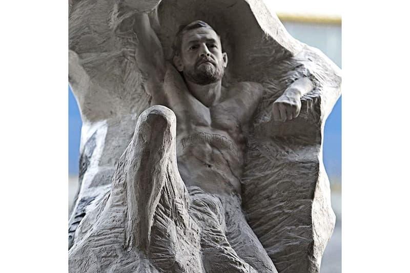 코너 맥그리거 생일을 기리는 7천만 원짜리 조각상 전시