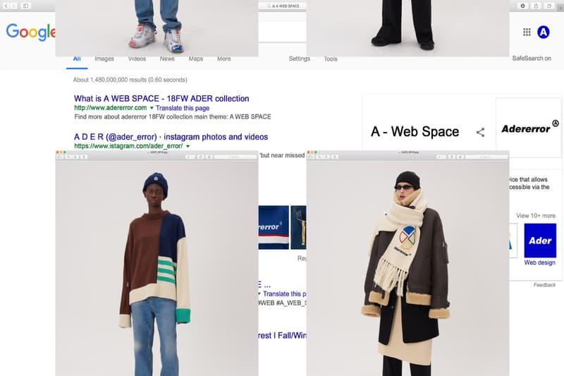 아더에러 2018 가을, 겨울 컬렉션 'A Web Space'