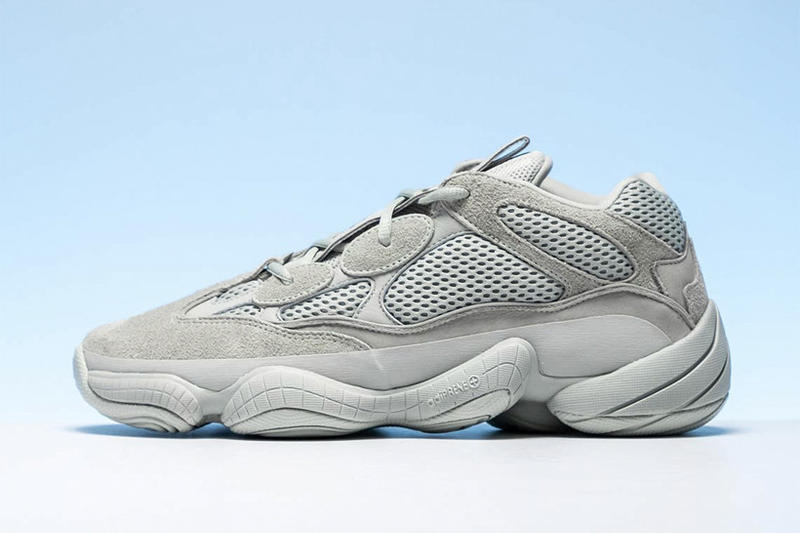 칸예 웨스트의 이지 500 '솔트' 실물 착용 사진 상세 이미지 추가 공개 adidas kanye west yeezy 500 salt