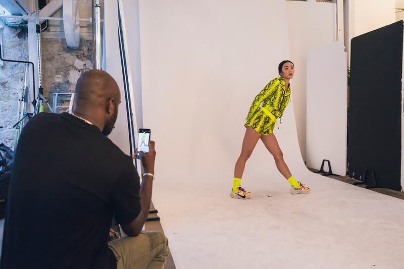 나이키로 물든 오프 화이트의 2019 봄, 여름 컬렉션 피팅 현장