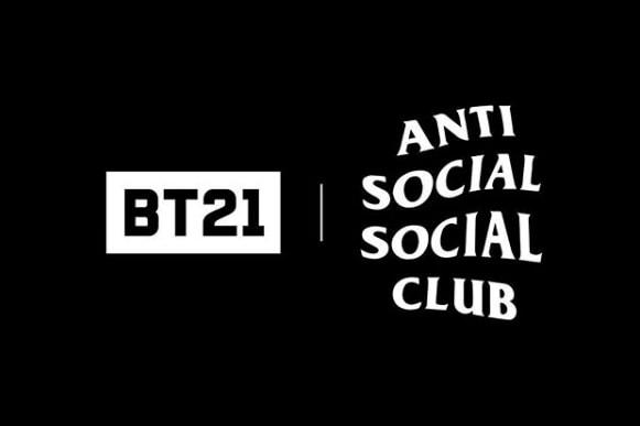 방탄소년단과 라인프렌즈의 BT21, 안티 소셜 소셜 클럽 협업 성사