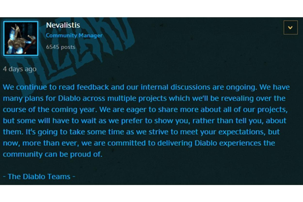 블리자드, 모바일 버전 외 새 <디아블로> 프로젝트 추진, 2019년 공개