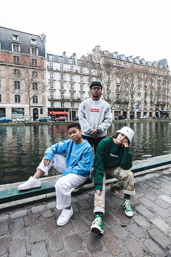 슈프림의 박스 로고 맨투맨 런던 & 파리 발매 현장 2018